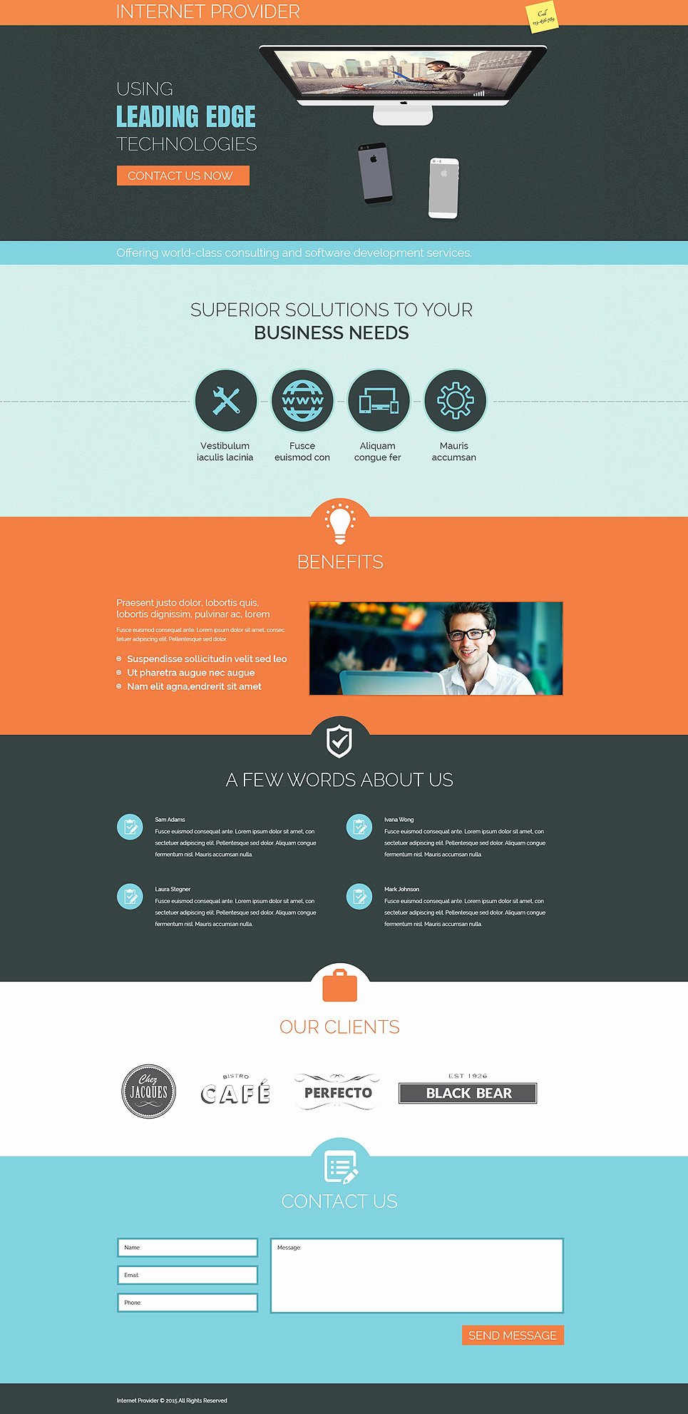 Isp Responsive Landing Page Template
