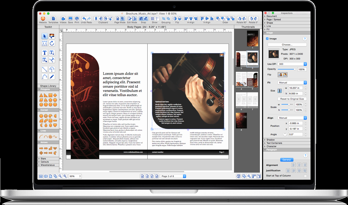 Istudio Publisher • Page Layout software for Desktop