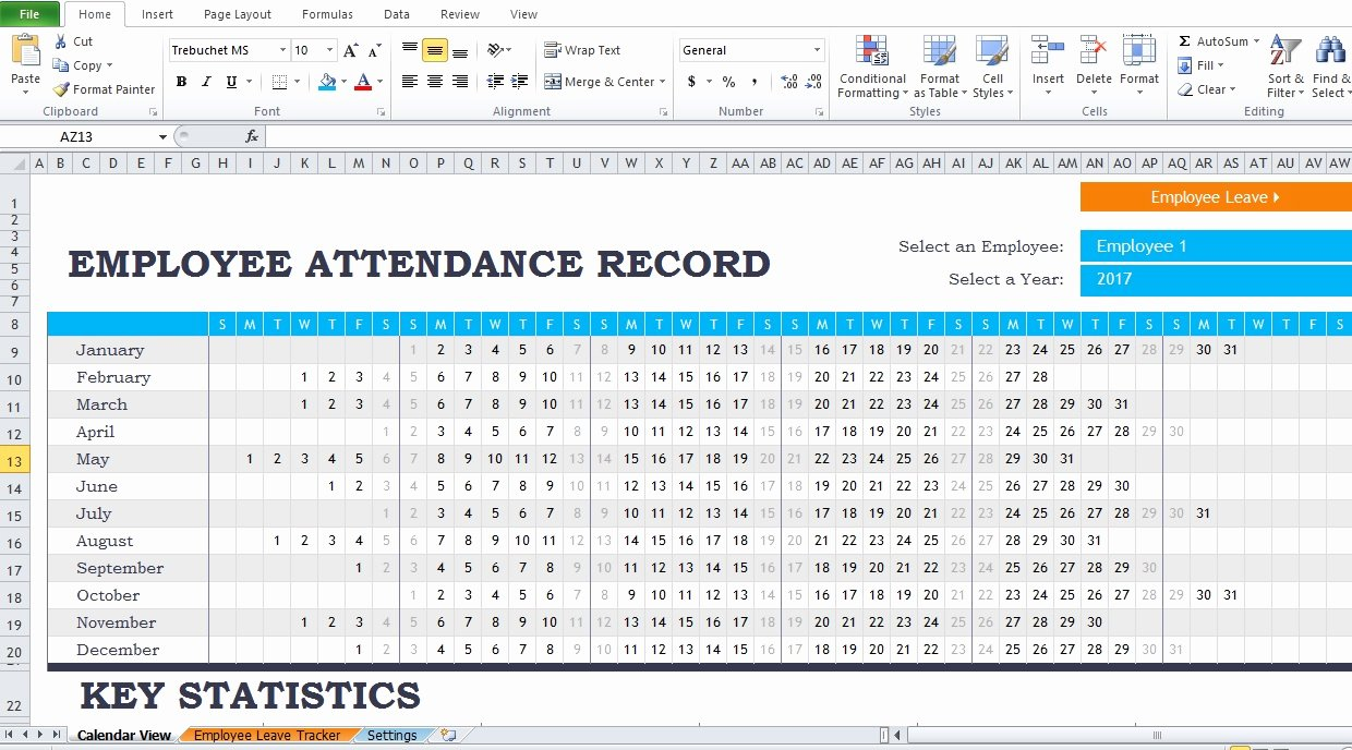 It assessment Report Template Employee attendance Report