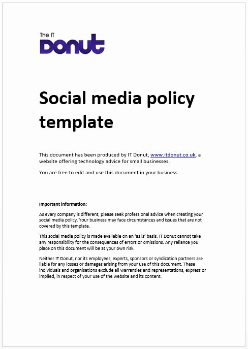 It Jobs Houston social Media Policy Examples