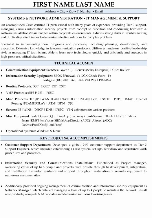 It Manager Resume Sample & Template