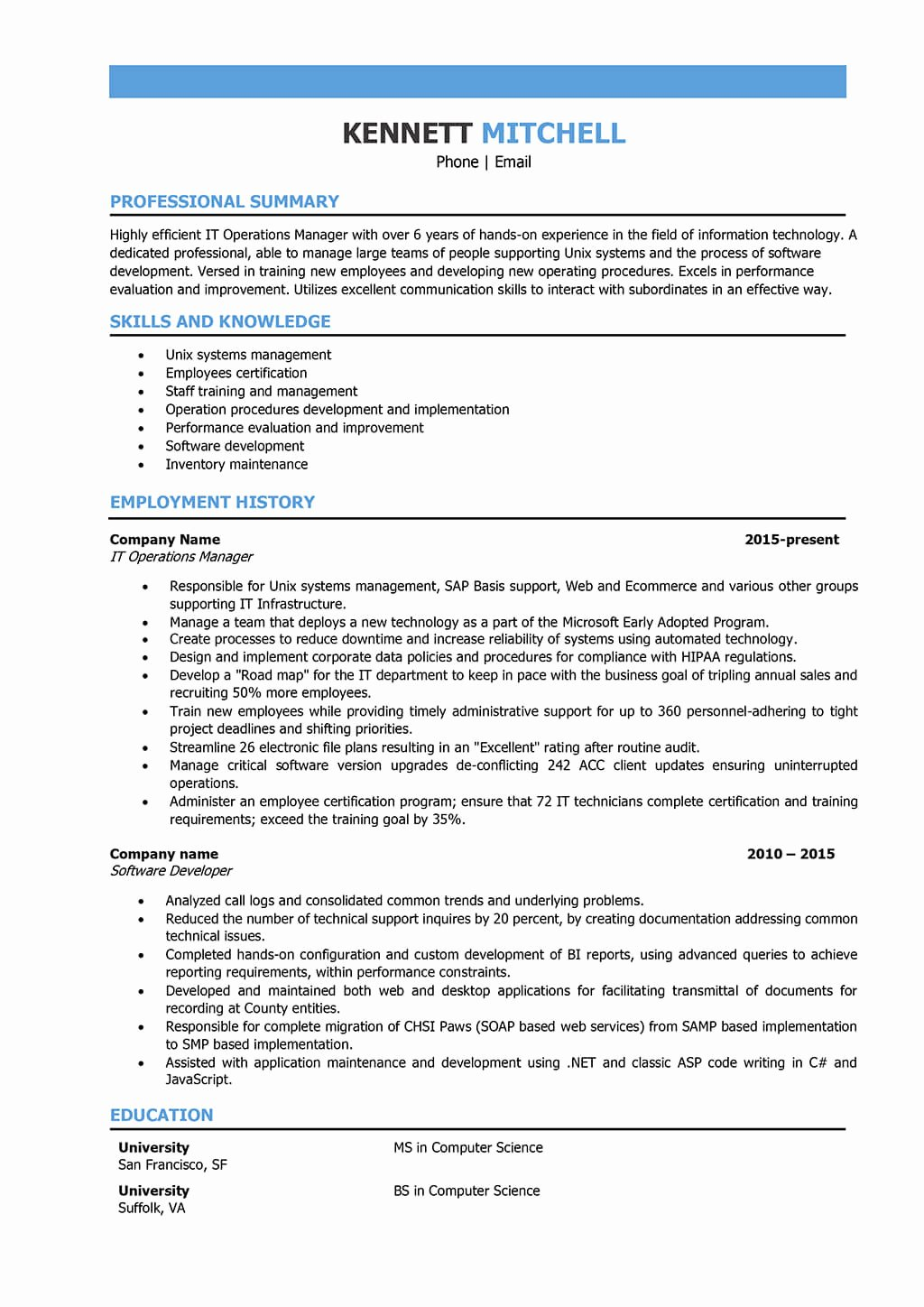 It Manager Resume Samples and Writing Guide [10 Examples