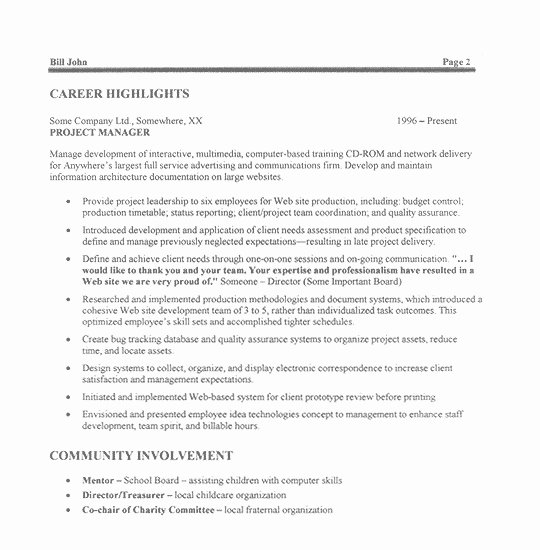 It Project Manager Resume Sample