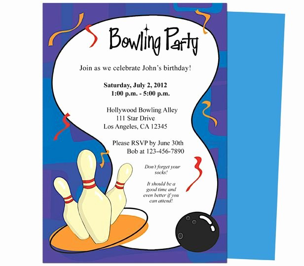 It S A Bowling Birthday Invitations Template Printable