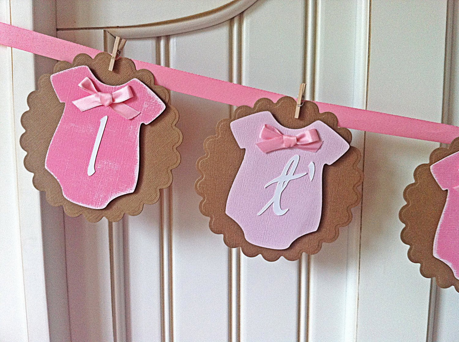 It S A Girl Vintage Style Esies Baby Shower Banner Free