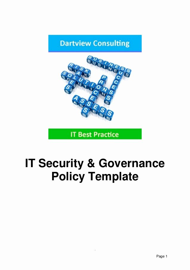 It Security & Governance Template