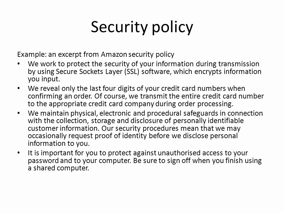It Security Policy Templates Printable Information