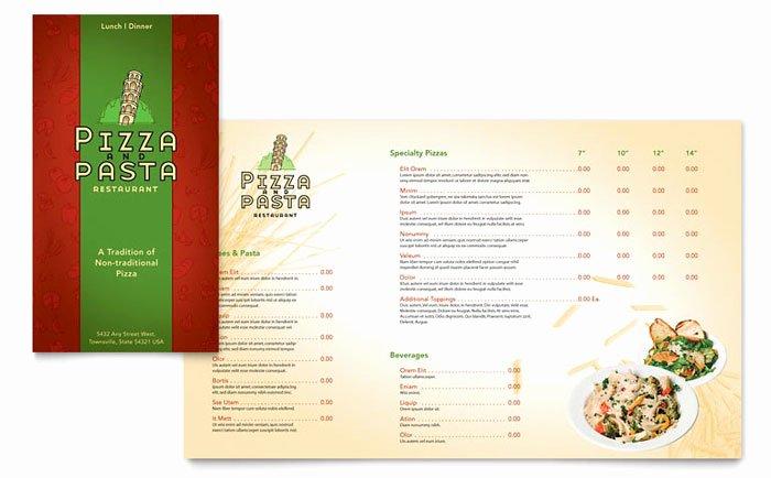 Italian Pasta Restaurant Take Out Brochure Template Design