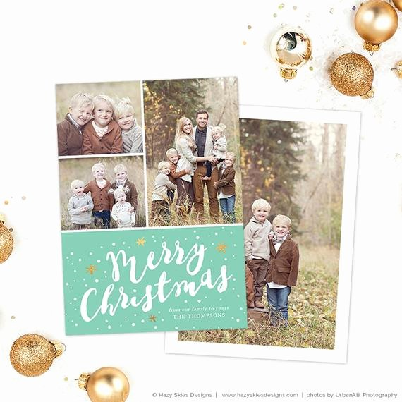 Items Similar to Christmas Card Template for Shop