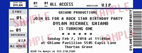 Items Similar to Concert Ticket Party Invitation Rock