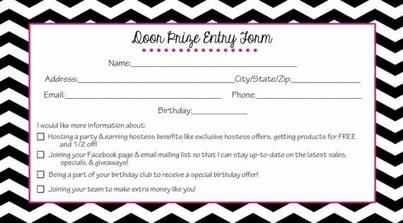 Items Similar to Direct Sales Door Prize Entry form Thirty