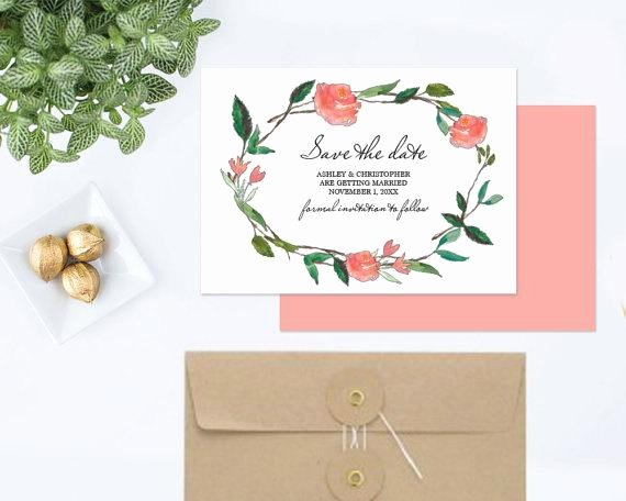 Items Similar to Diy Save the Date Ms Word Template