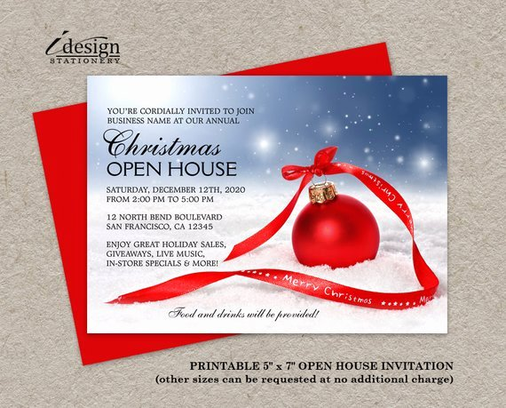 festive business holiday open house