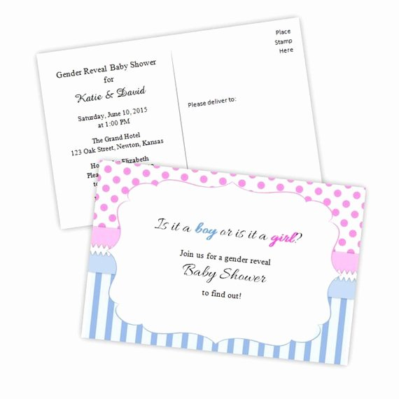 Items Similar to Gender Reveal Baby Shower Invitation