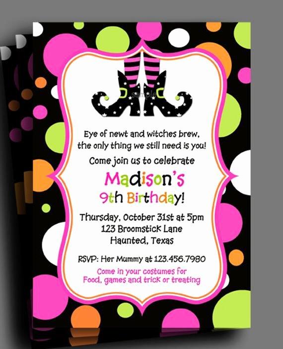 Items Similar to Halloween Invitation Printable or Printed