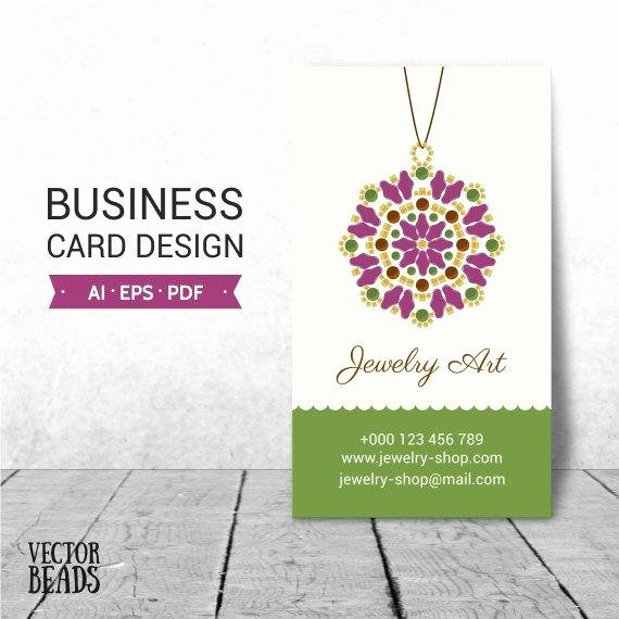 Items Similar to Jewelry Business Card Business Card