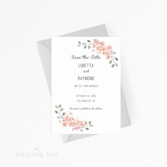 Items Similar to Printable Wedding Save the Date Template