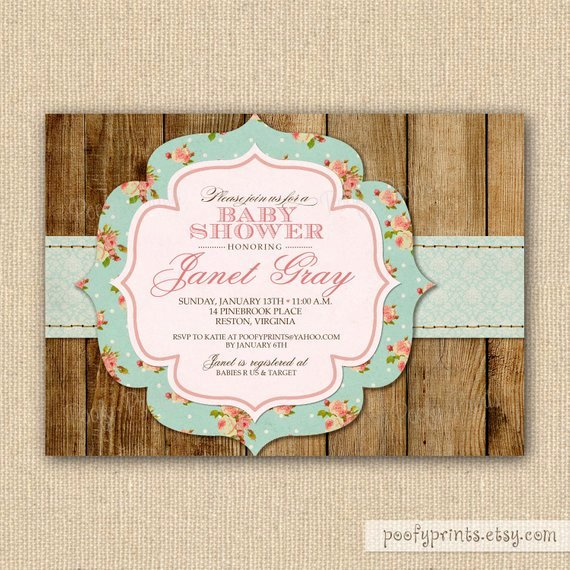 Items Similar to Rustic Shabby Chic Baby Shower