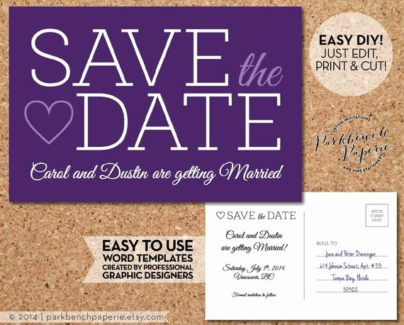 Items Similar to Save the Date Wedding Postcard Slab