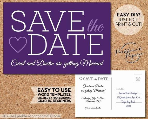Items Similar to Save the Date Wedding Postcard Slab