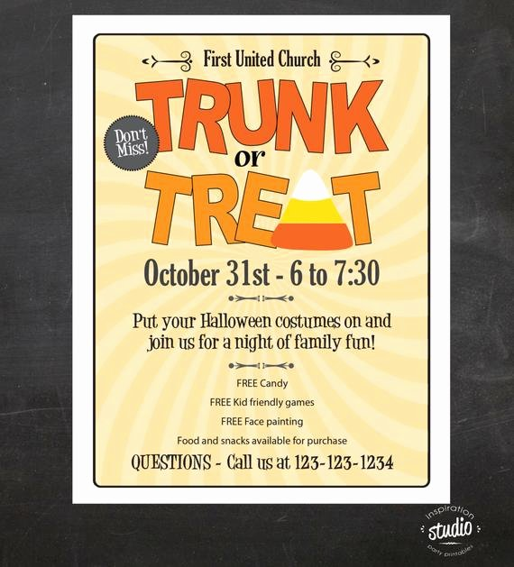 Items Similar to Trunk or Treat Halloween event Flyer