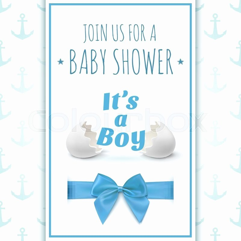 Its A Boy Template for Baby Shower Celebration or Baby