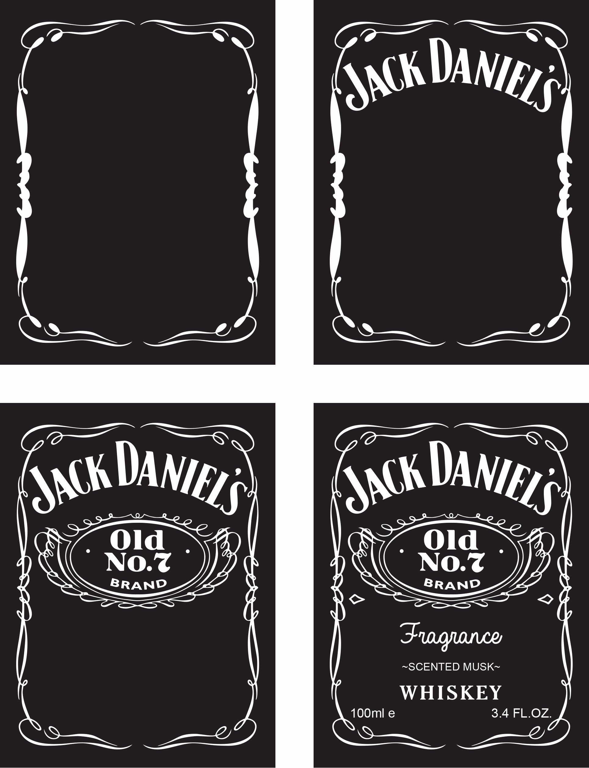 Jack Daniels Label Template Generator