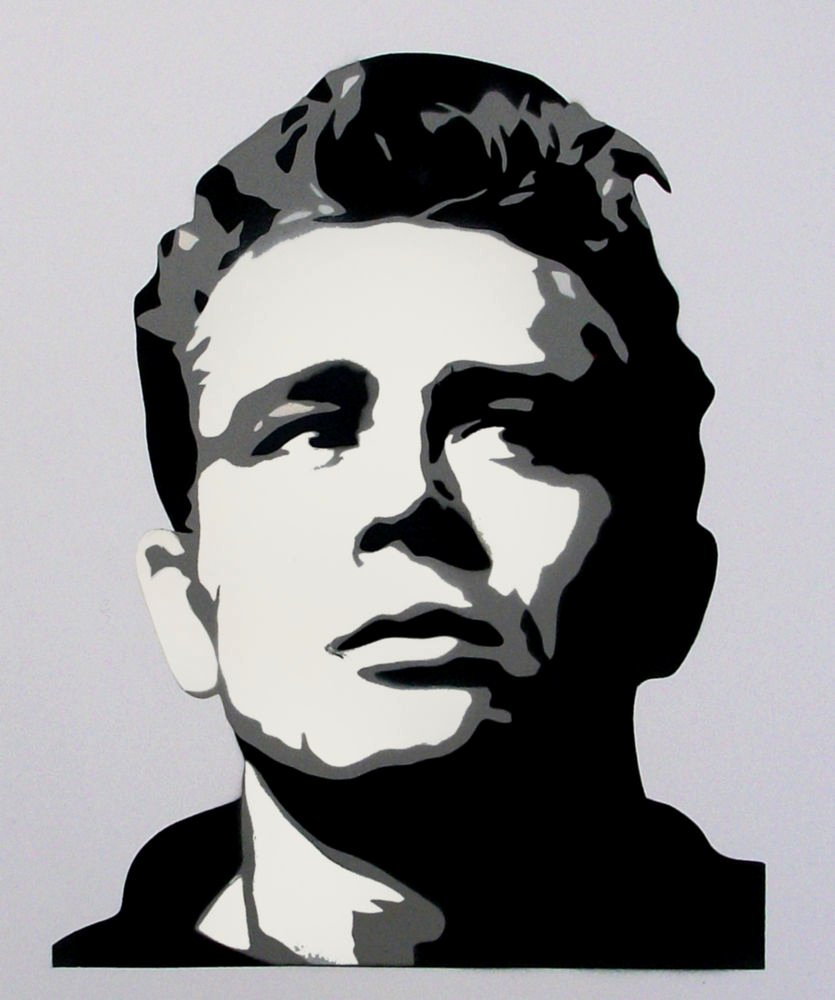James Dean Multi Layer Stencil Use for Art Home Decor
