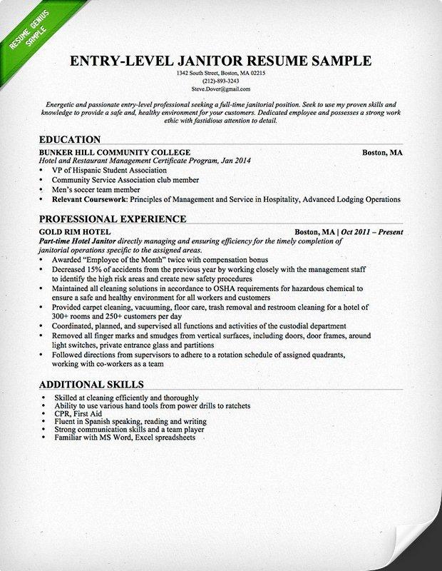 Janitor & Maintenance Cover Letter Samples