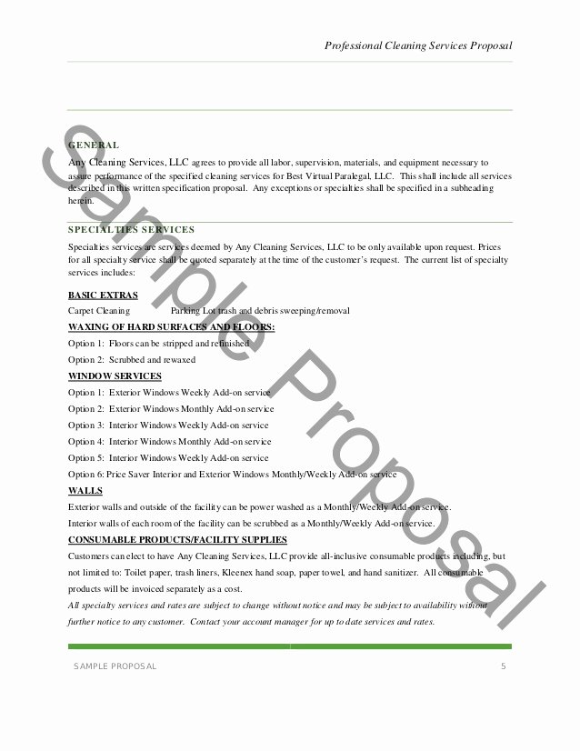 Janitorial Service Proposal Template