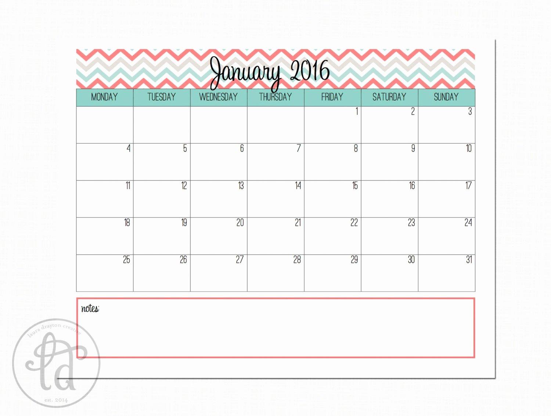 January 2016 Calendar Printable Template – 2017 Printable