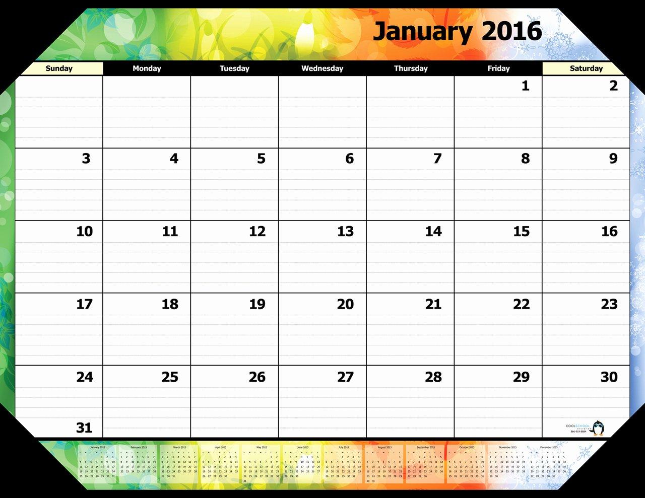 January 2016 Calendar Word – 2017 Printable Calendar