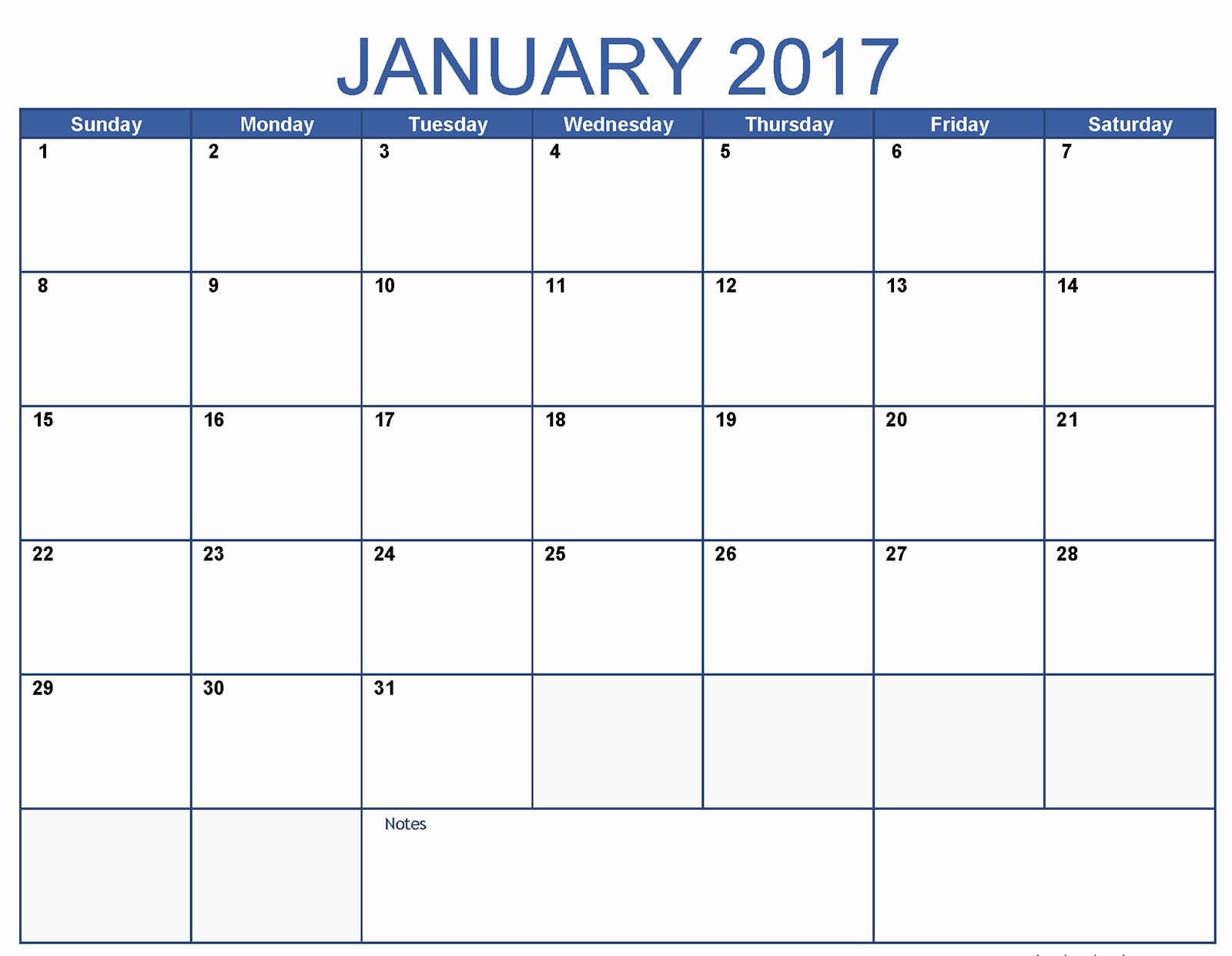 January 2017 Word Calendar Wordcalendar