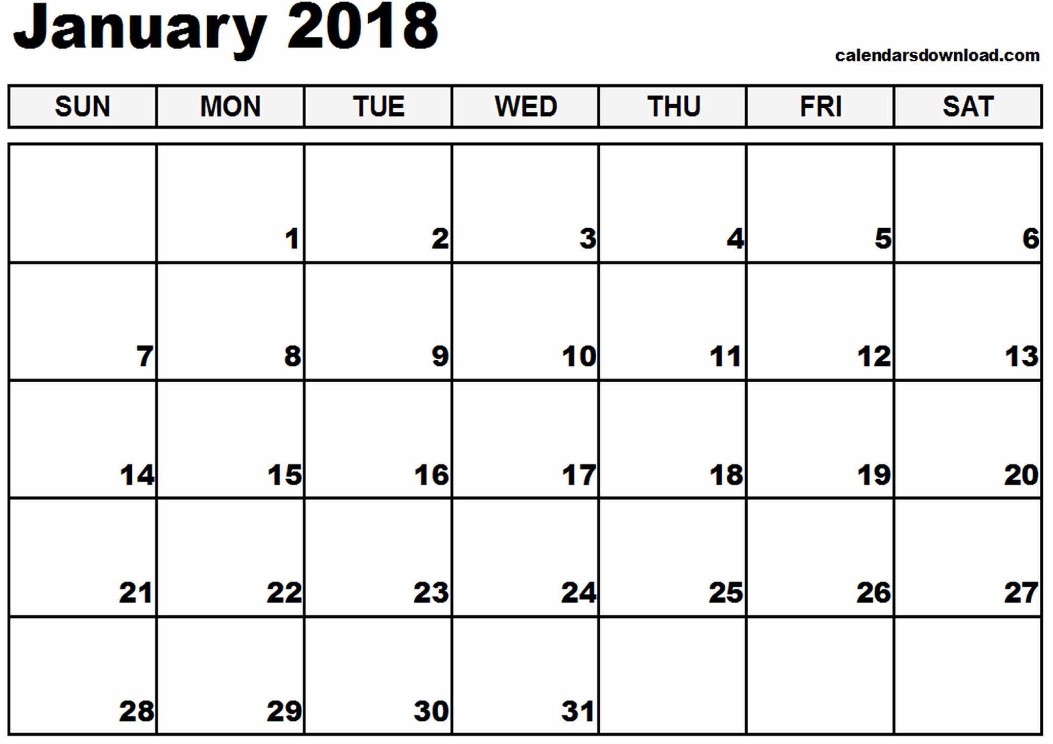 january 2018 calendar template 1622