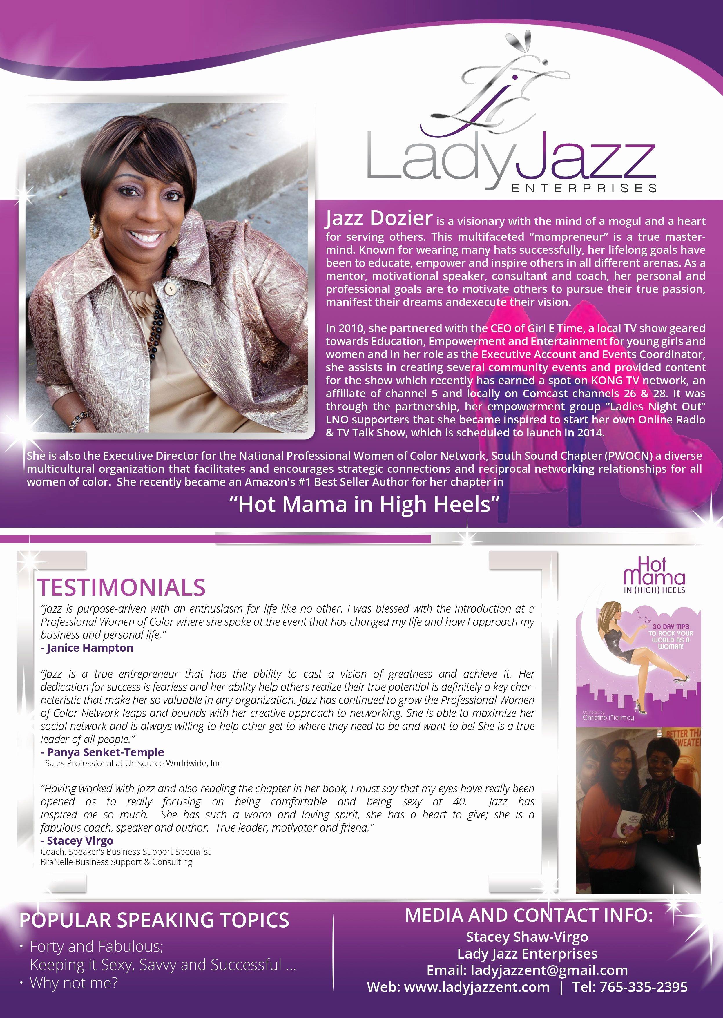 Jazz Dozier Also Known as Lady Jazz Speaker One Sheet