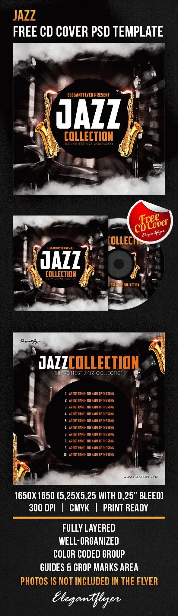 Jazz – Free Cd Cover Psd Template – by Elegantflyer