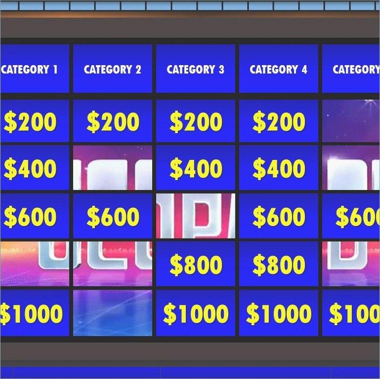 Jeopardy Powerpoint Template – Pontybistrogramercy