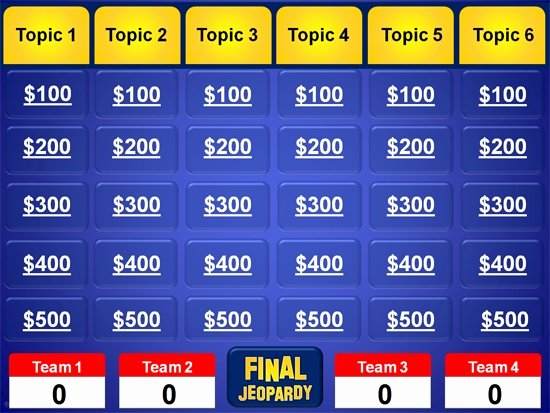 Jeopardy Powerpoint Template with Score Icebergcoworking