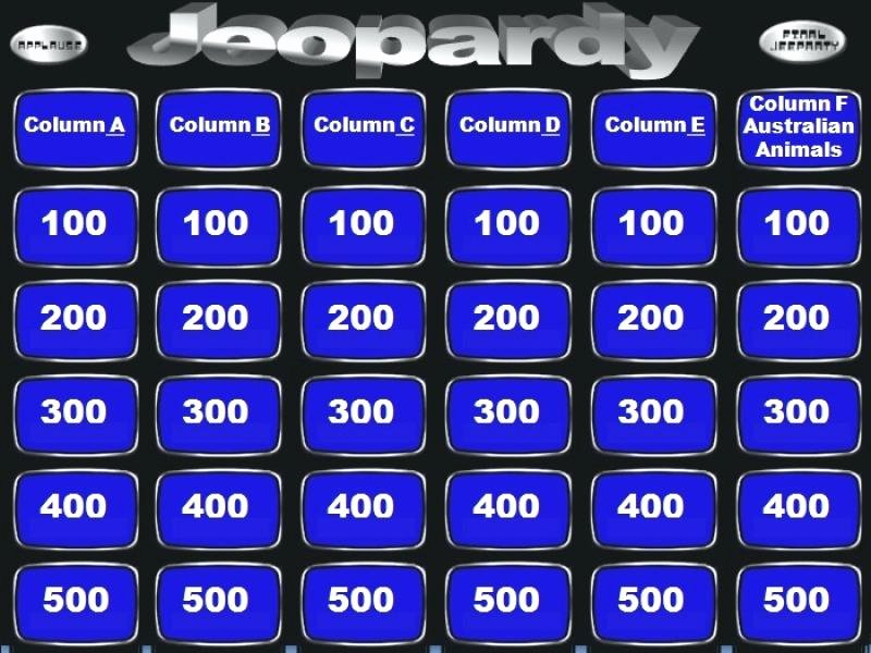 Jeopardy Powerpoint Template with sound and Score Game