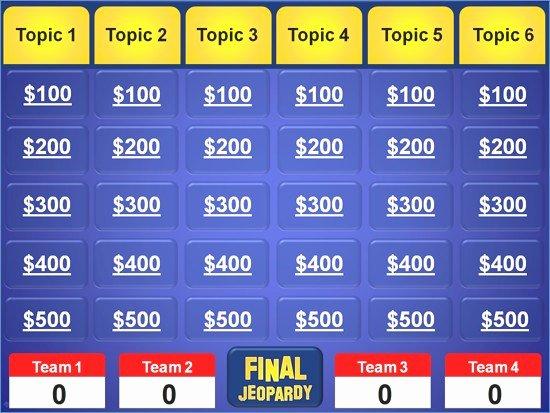 Jeopardy Templates Powerpoint