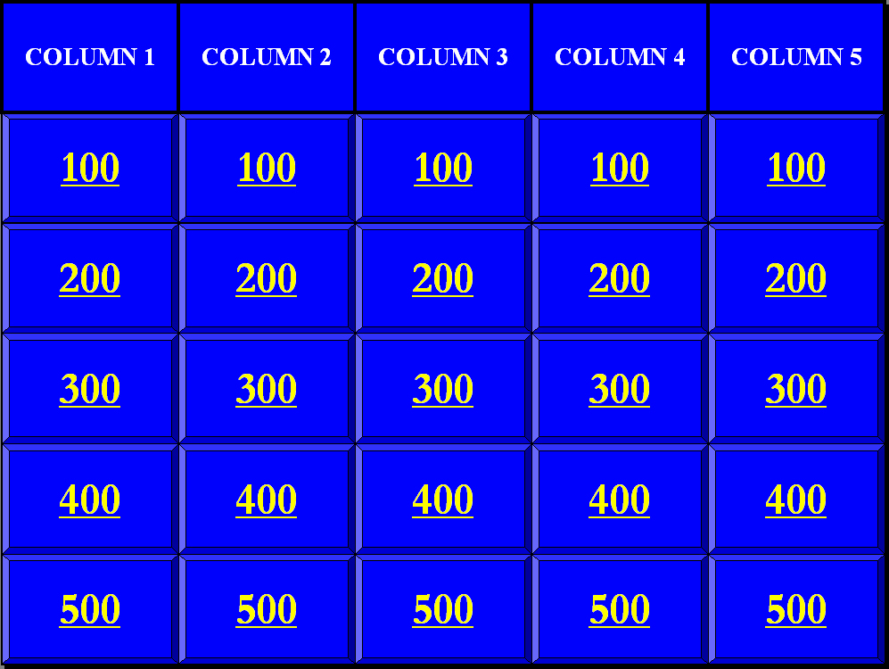 Jeopardy Templates Ppt Cpanjfo