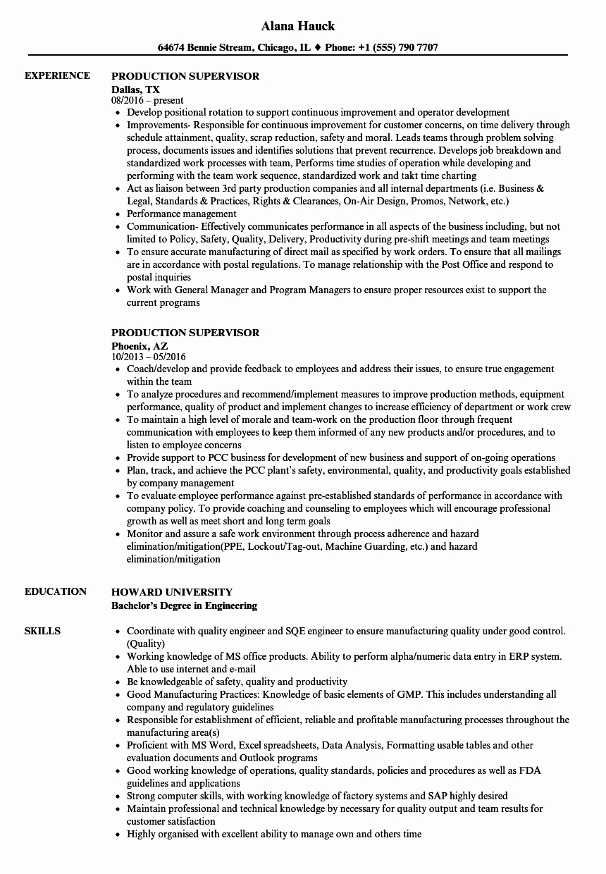 Jewelry Production Manager Resume Style Guru Fashion