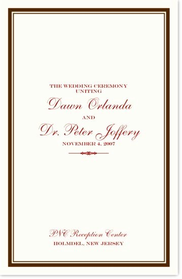 Jewish Wedding Program Template Jewish Wedding Program