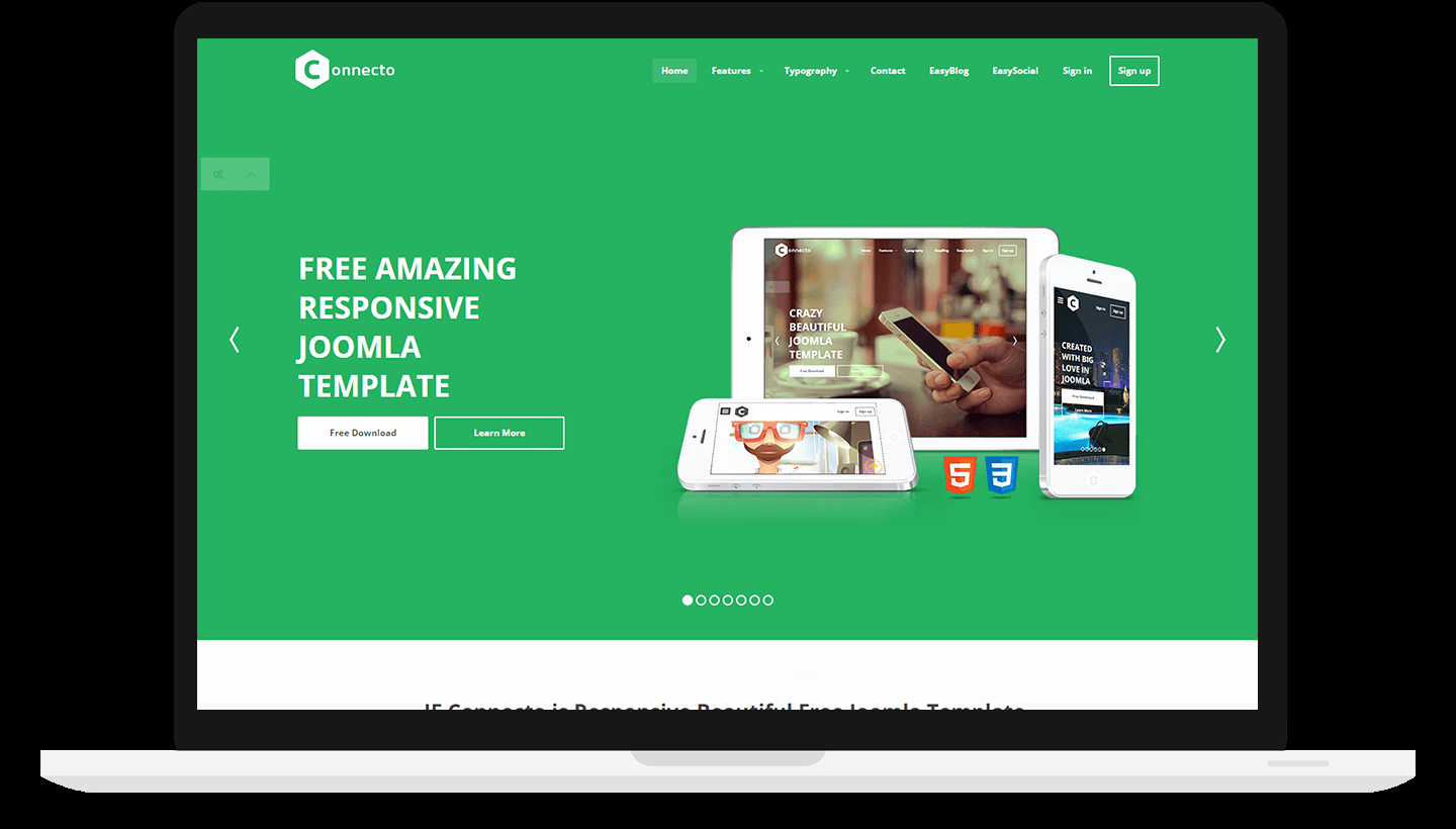 Jf Connecto Best Free Responsive Joomla Template