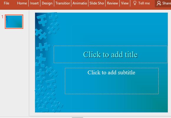 Jigsaw Slides Powerpoint Template