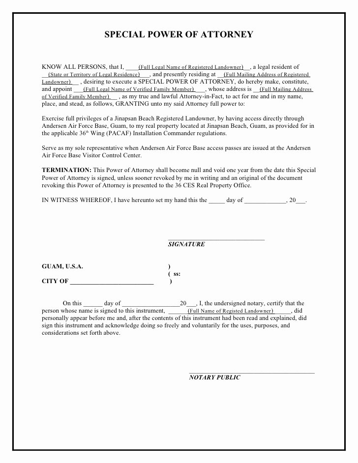 Jinapsan Power Of attorney Template