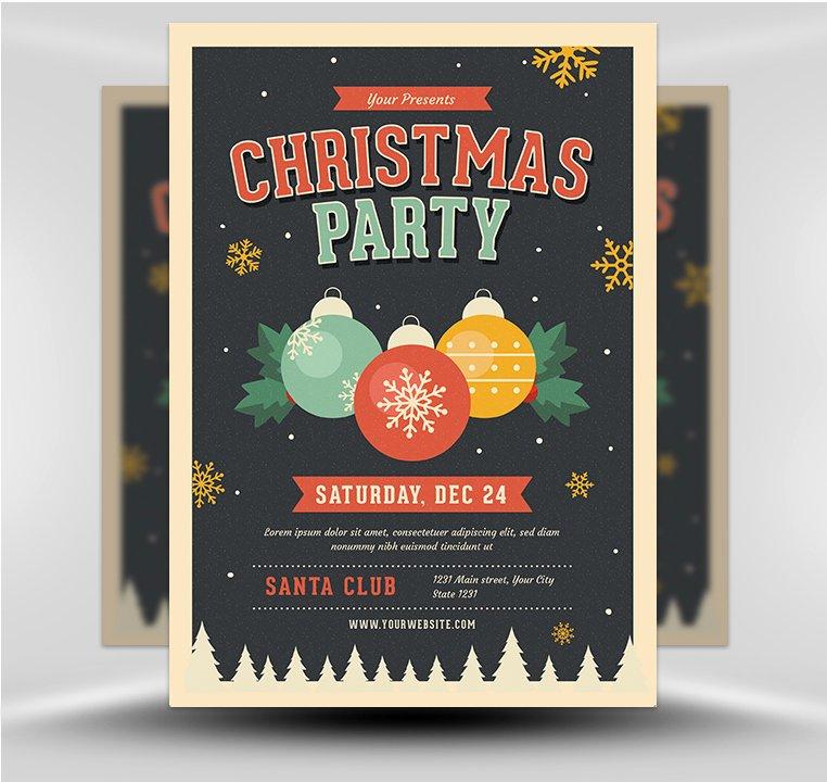 Jingle Bells Christmas Party Flyer Template Flyerheroes