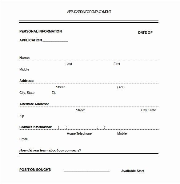Job Application Template – 10 Free Word Pdf Documents
