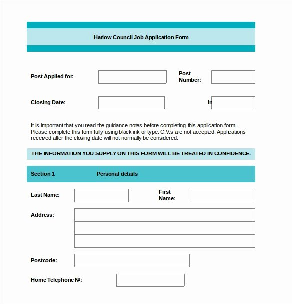 Job Application Template 19 Examples In Pdf Word