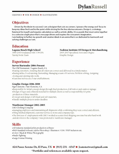 Job Description for Bartender Resume Best Resume